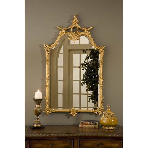 Hickory Manor House Chauncy Gold Leaf Mirror