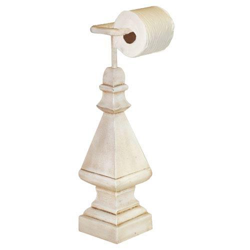 Old World White Standing Modern Toilet Paper Holder