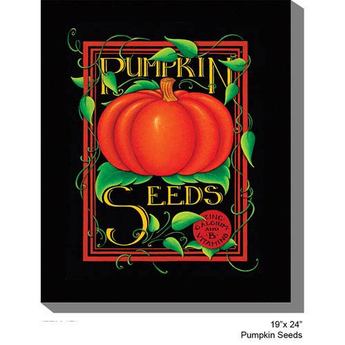 West Of The Wind Designs Pumpkin Seeds by Jodene Kilner 24 x 19 All Weather Outdoor Photograph Canvas Giclee