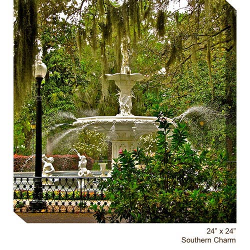 West Of The Wind Designs Southern Charm by Dennis Butera: 24 x 24 All Weather Outdoor Photograph Canvas Giclee