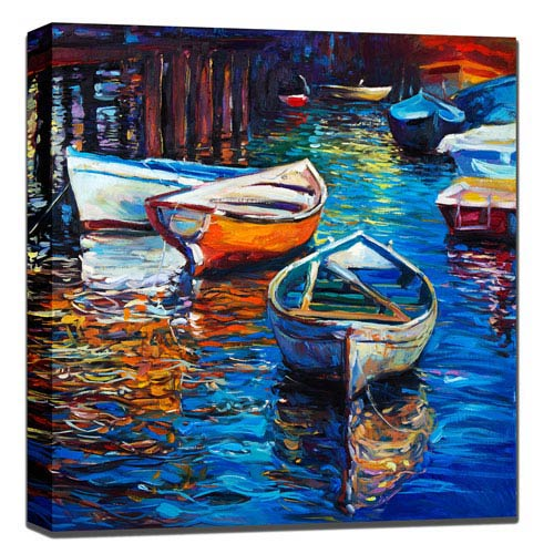 West Of The Wind Designs The Drifters: 24 x 1.5 x 24-Inch Giclee Painting