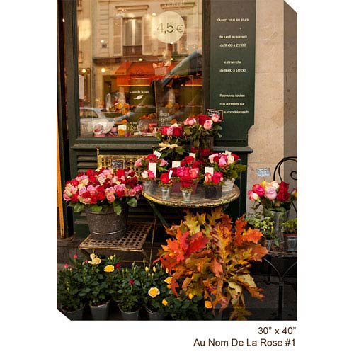 West Of The Wind Designs Flower Shop #1 V: 30 x 40 All Weather Outdoor Photograph Canvas Giclee