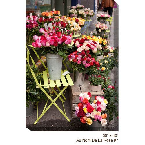 West Of The Wind Designs Flower Shop #7 V: 30 x 40 All Weather Outdoor Photograph Canvas Giclee