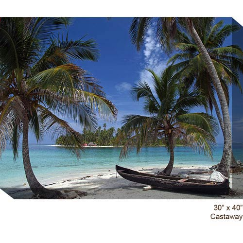 West Of The Wind Designs Castaway: 40 x 30 All Weather Outdoor Photograph Canvas Giclee