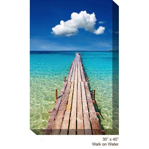 West Of The Wind Designs Walk on Water: 30 x 40 All Weather Outdoor Photograph Canvas Giclee