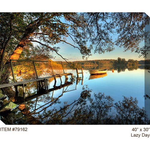 West Of The Wind Designs Lazy Day: 40 x 30 Outdoor Canvas Art