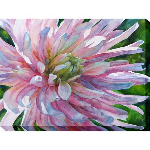 West Of The Wind Designs Lady Aster: 40 x 1.5 x 30-Inch Giclee Painting