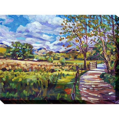 Ride Home: 40 x 1.5 x 30-Inch Giclee Painting