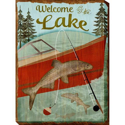 Welcome Lake: 30 x 1.5 x 40-Inch Giclee Painting