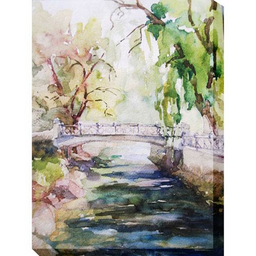 Tranquil Stream: 30 x 1.5 x 40-Inch Giclee Painting