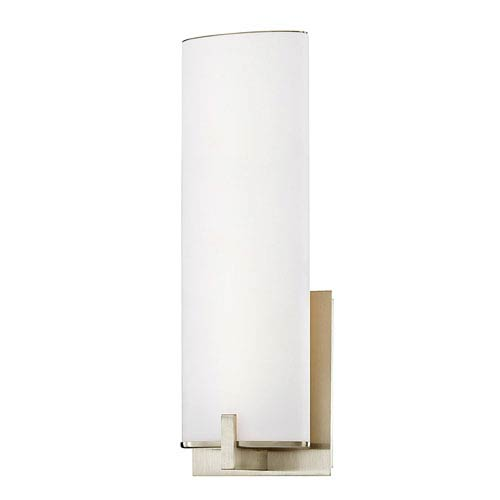 Contemporary wall sconces wall sconce lighting bellacor satin nickel 5 inch led wall sconce aloadofball Images