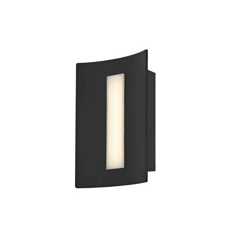 Arc Matte Black 9-Inch One-Light LED Outdoor Wall Mount