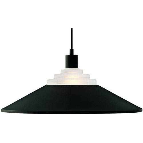 Pinnacle Matte Black One-Light Pendant