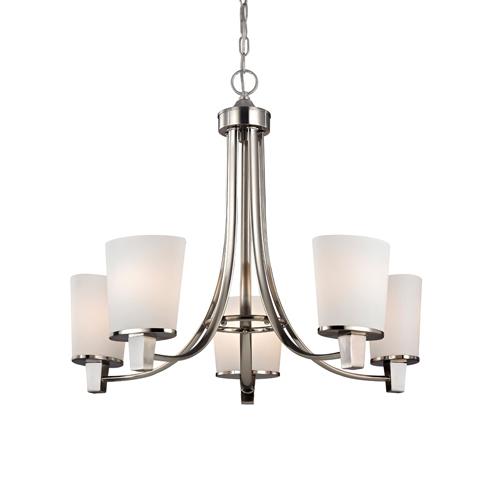 Dolan Designs Ellipse II Satin Nickel Five Light Chandelier