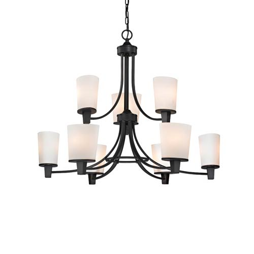 Ellipse II Bolivian Nine Light Two Tier Chandelier