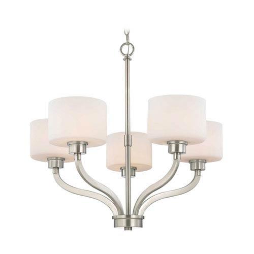 Dolan Designs Kalina Satin Nickel Five Light Chandelier