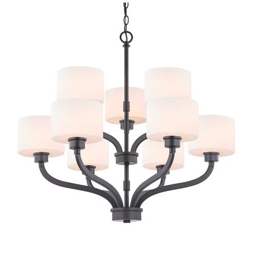 Dolan Designs Kalina Warm Bronze Nine Light Two Tier Chandelier