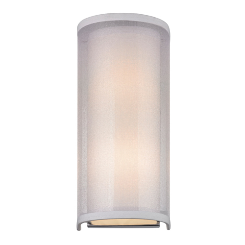 Dolan Designs Double Organza Chrome Two Light Wall Sconce