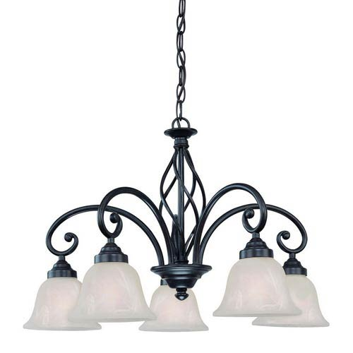 Dolan Designs Wicker Park Olde World Iron Five-Light Chandelier