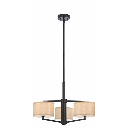 Dolan Designs Monaco Three-Light Ebony Bronze Chandelier