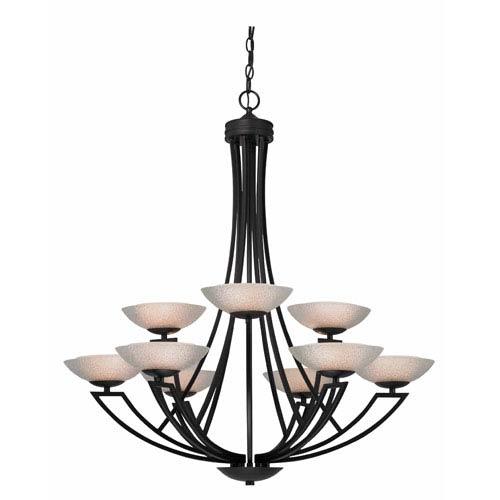 Dolan Designs Delany Nine-Light Two-Tier Warm Bronze Chandelier