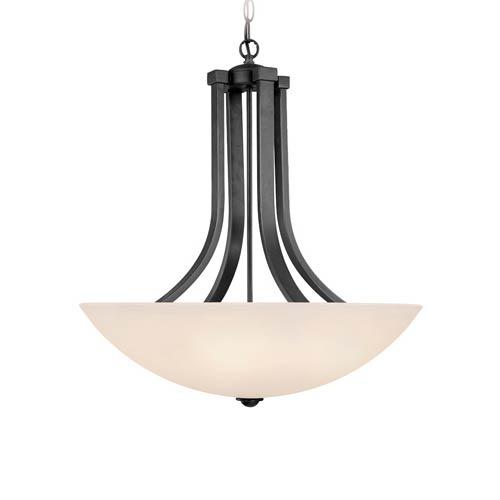 Kenroy Home Lighting Keen Bronze Pendant Light With Drum: Kenroy Home Keen Bronze Three Light Pendant 93363brz