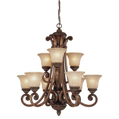 Dolan Designs Carlyle Canyon Clay Nine-Light Chandelier