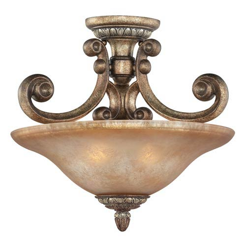 Dolan Designs Carlyle Verona Two-Light Semi-Flush