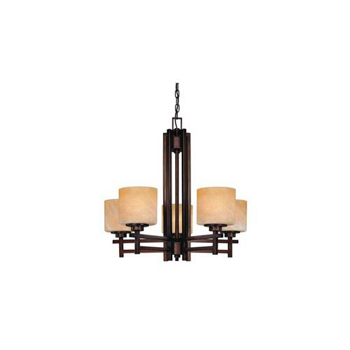 Roxbury English Bronze Five-Light Chandelier