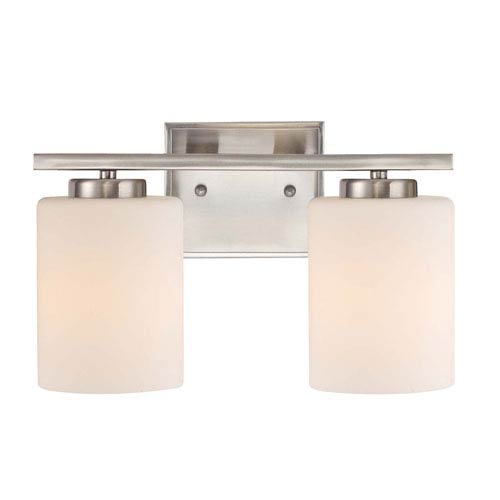 Dolan Designs Chloe Two-Light Satin Nickel Bath Bar