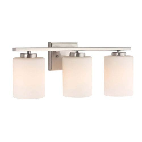 Chloe Three-Light Satin Nickel Bath Bar