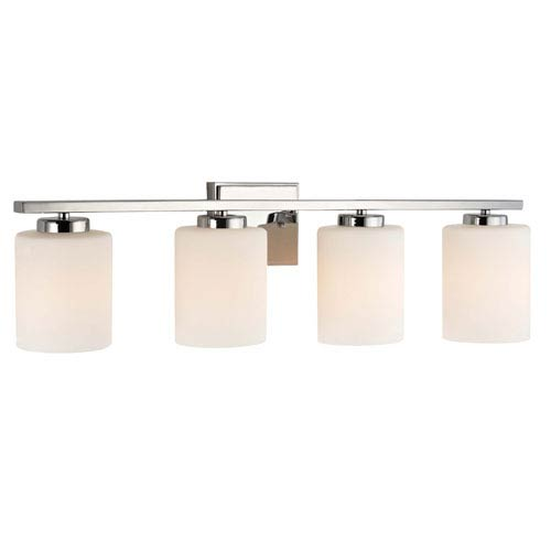Chloe Four-Light Chrome Bath Bar