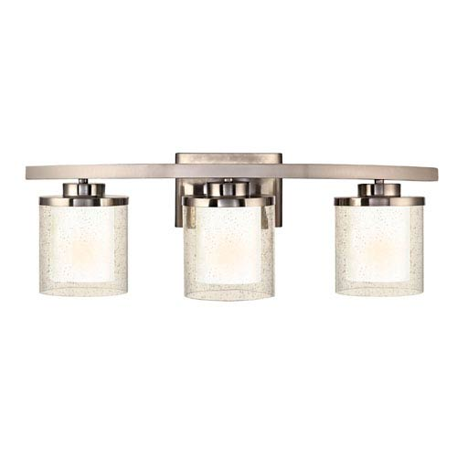 Dolan Designs Horizon Three-Light Satin Nickel Bath Fixture
