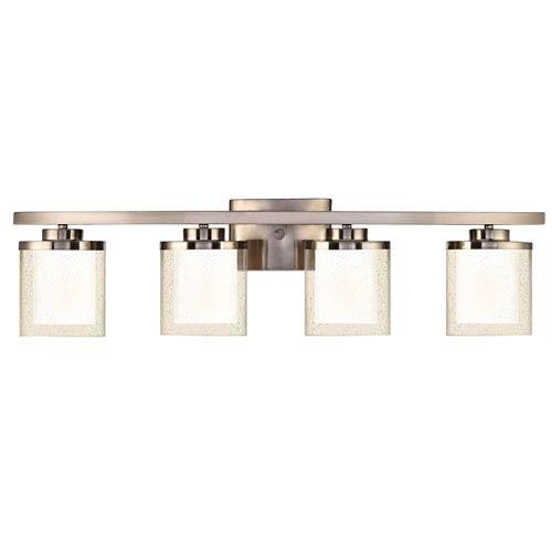 Horizon Four-Light Satin Nickel Bath Fixture