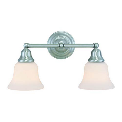 Dolan Designs Brockport Satin Nickel Two-Light Bath Light