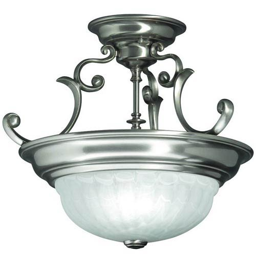Dolan Designs Richland Satin Nickel Two-Light Semi-Flush