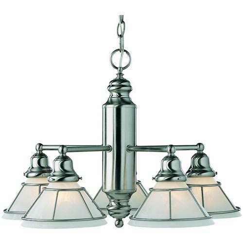 Dolan Designs Craftsman Satin Nickel Five-Light Chandelier