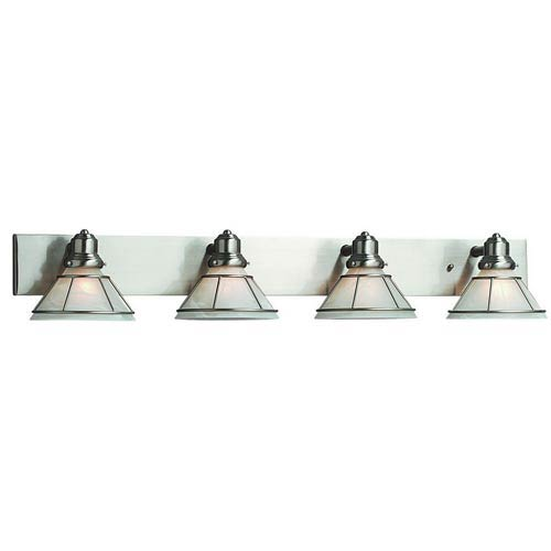 Craftsman Satin Nickel Four-Light Bath Light