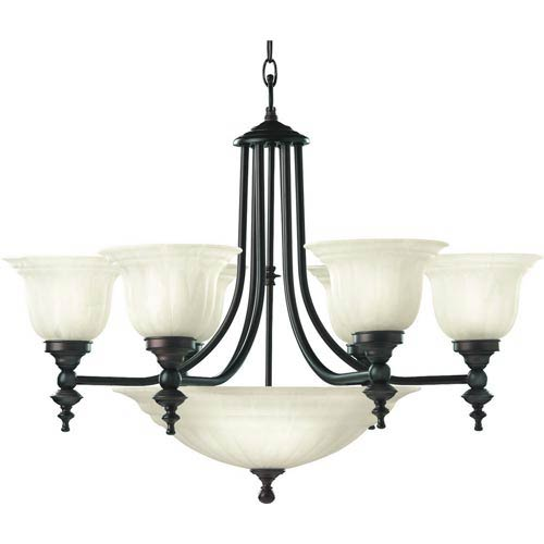 Richland Royal Bronze Six-Light Chandelier