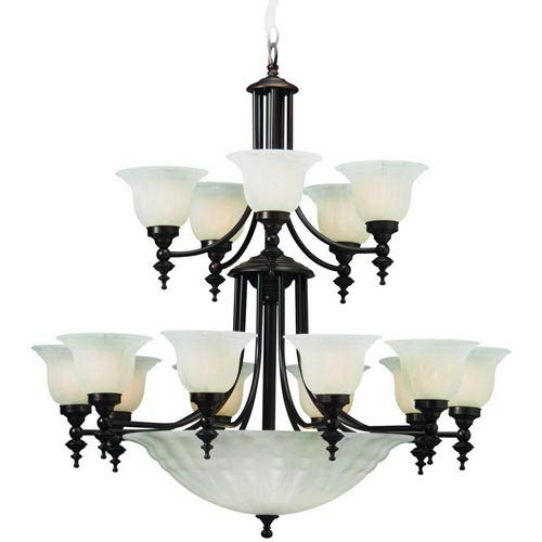 Dolan Designs Richland Royal Bronze Fifteen-Light Chandelier