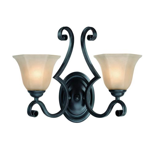 Dolan Designs Winston Olde World Iron Two-Light Wall Sconce
