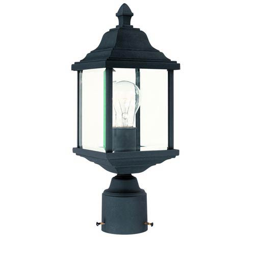 Charleston Black One-Light Outdoor Post Light