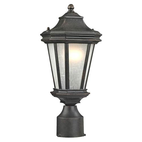 Dolan Designs Lakeview Olde World Iron One-Light Outdoor Post Mount