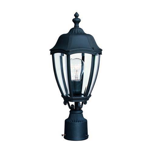 Roseville Black One-Light Outdoor Post Light