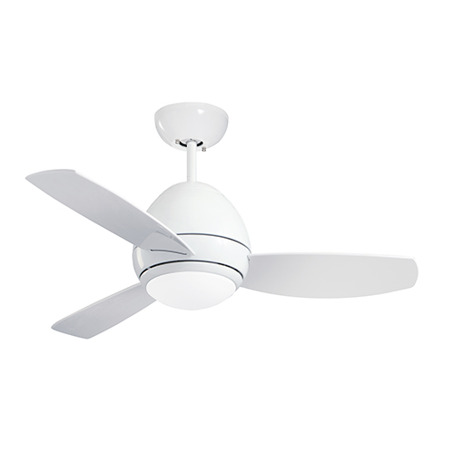 Appliance White 44-Inch Curva LED Indoor and Outdoor Ceiling Fan