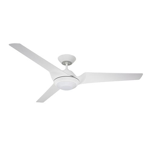 Satin White LED Sweep Eco Ceiling Fan