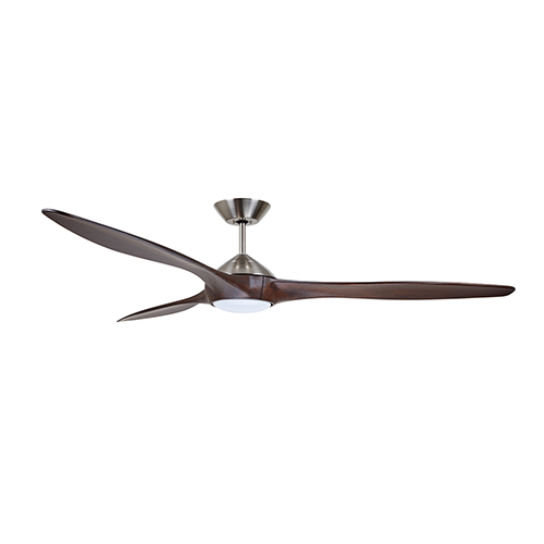 Lindbergh Brushed Steel LED 60-Inch Eco Ceiling Fan