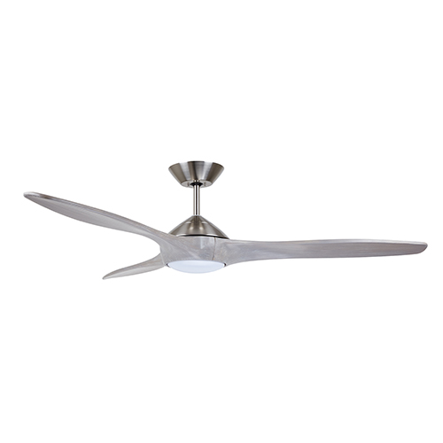 Lindbergh Brushed Steel LED 60-Inch Eco Ceiling Fan