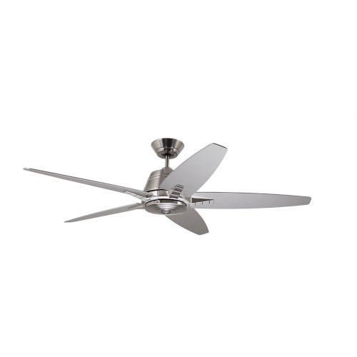 Euclid Brushed Steel Brushed Steel Barbeque Black 56-Inch Ceiling Fan