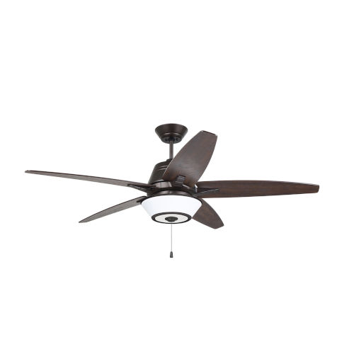 Euclid Oil Rubbed Bronze Tigerwood Coffee 56-Inch Ceiling Fan